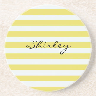 Posavasos Oro pálido y rayas blancas de Shirley Taylor