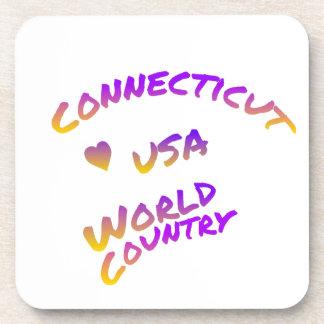Posavasos País del mundo de Connecticut los E.E.U.U., arte