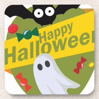 Posavasos Palos y fantasmas del feliz Halloween