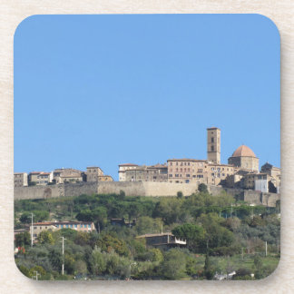 Posavasos Panorama del pueblo de Volterra, provincia de Pisa