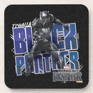 Posavasos Pantera negra el | T'Challa - gráfico de la