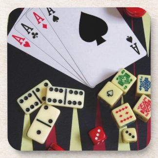Posavasos Pedazos del juego del casino de juego