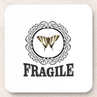 Posavasos Pegatina frágil de la mariposa