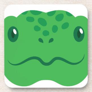 Posavasos pequeña cara linda de la tortuga de la tortuga