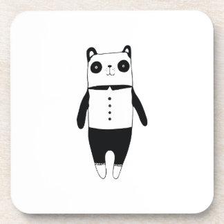 Posavasos Pequeña panda blanco y negro