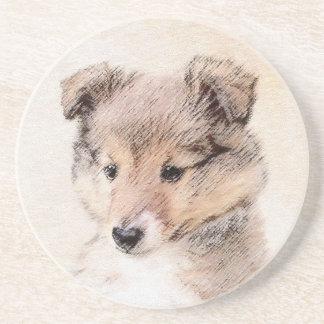 Posavasos Perrito del perro pastor de Shetland