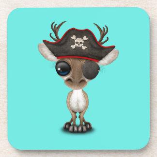 Posavasos Pirata lindo del reno del bebé