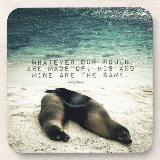 Posavasos Playa romántica Emily Bronte de la cita de los