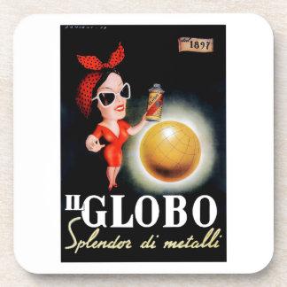 Posavasos Poster italiano 1949 de la publicidad de IL Globo