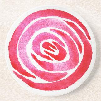 Posavasos Práctico de costa color de rosa abstracto de la