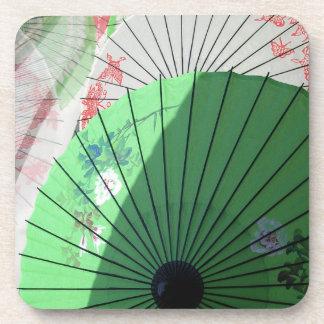 Posavasos Prácticos de costa bonitos de los parasoles