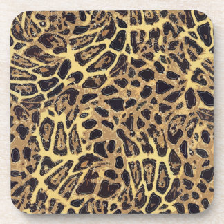 Posavasos Prácticos de costa plásticos del leopardo con la