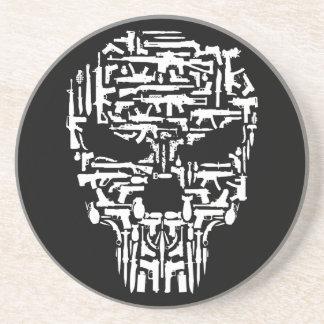 Posavasos Productos del cráneo y de los armas y de los