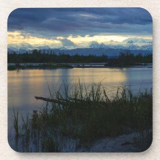 Posavasos Puesta del sol de la medianoche de Denali