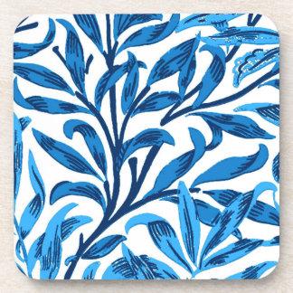 Posavasos Rama del sauce de William Morris, azul de cobalto