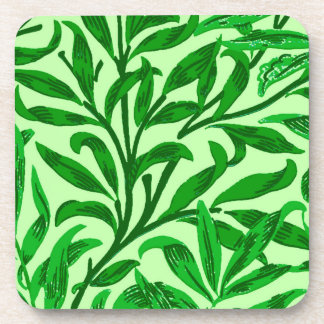 Posavasos Rama del sauce de William Morris, verde esmeralda