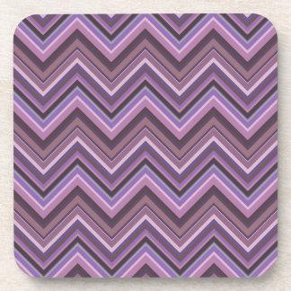 Posavasos Rayas de color de malva del zigzag