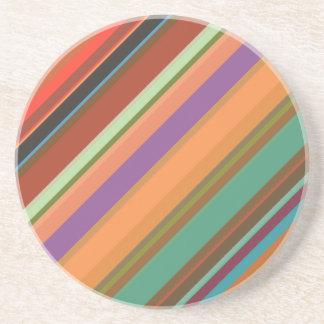Posavasos Rayas multicoloras #1