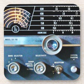 Posavasos Receptor de radio de la onda corta del vintage