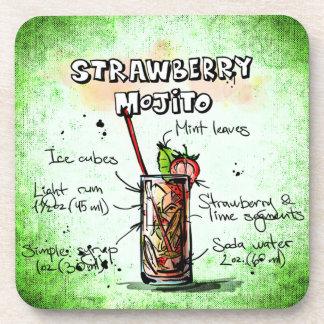 Posavasos Receta de la bebida de Mojito de la fresa