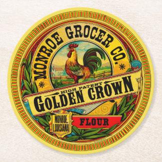 Posavasos Redondo De Papel Alta harina de la patente de la corona de oro