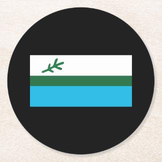 Posavasos Redondo De Papel Bandera de Labrador