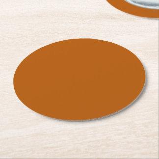 Posavasos Redondo De Papel Color sólido de la especia de la calabaza