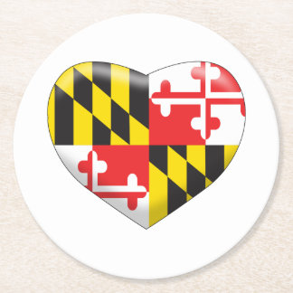 Posavasos Redondo De Papel Corazón de Maryland