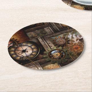 Posavasos Redondo De Papel Diseño maravilloso del steampunk