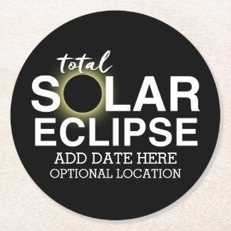 Posavasos Redondo De Papel Eclipse solar total 2017 - fecha y ubicación de