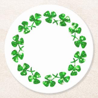 Posavasos Redondo De Papel El día de St Patrick
