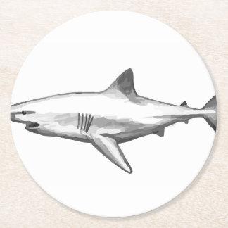 Posavasos Redondo De Papel El hogar de la oficina del tiburón personaliza