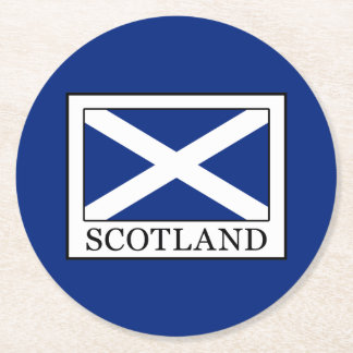Posavasos Redondo De Papel Escocia