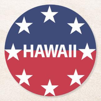 Posavasos Redondo De Papel Estándar del gobernador de Hawaiʻi
