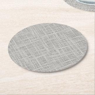 Posavasos Redondo De Papel Falso modelo gris caliente elegante de la tela del