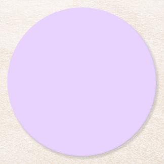 Posavasos Redondo De Papel Fondo llano de la lila