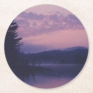 Posavasos Redondo De Papel Lago indio, parque de Adirondack, NY