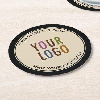 Posavasos Redondo De Papel Logotipo Round Custom Pulpboard Paper Coasters
