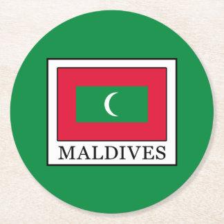 Posavasos Redondo De Papel Maldivas