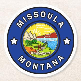Posavasos Redondo De Papel Missoula Montana