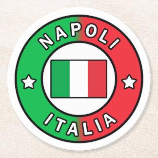 Posavasos Redondo De Papel Napoli Italia