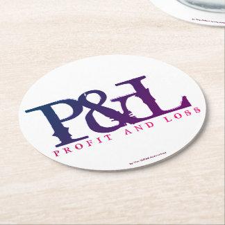"POSAVASOS REDONDO DE PAPEL ""P&L """