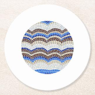 Posavasos Redondo De Papel Práctico de costa de papel redondo del mosaico