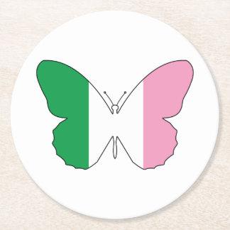 Posavasos Redondo De Papel Terranova Buttlerfly tricolor