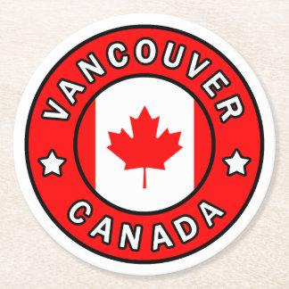 Posavasos Redondo De Papel Vancouver Canadá