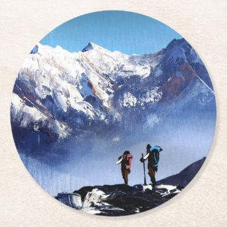 Posavasos Redondo De Papel Vista panorámica de la montaña máxima de Ama