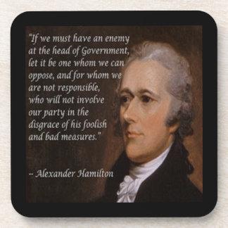 """Posavasos Regalo del """"líder enemigo"""" de Alexander Hamilton"""