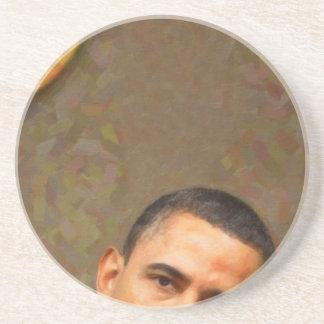 Posavasos Retrato abstracto de presidente Barack Obama 11