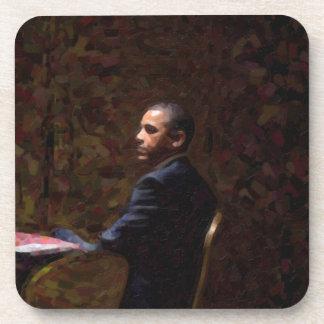 Posavasos Retrato abstracto de presidente Barack Obama 13