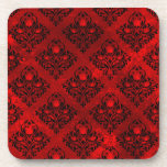 Posavasos Rosa roja y Damasco negro